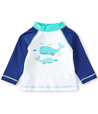 Little Me Baby Boys 6-24 Months Long-Sleeve Whale Graphic Rashguard