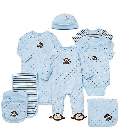 Little Me Baby Boys Preemie-12 Months Monkey Star 10-Piece Layette Separates Bundle