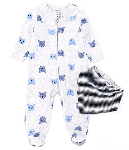 dc3c25e3a Little Me Baby Boys Preemie-9 Months Bear-Printed Footed Coverall