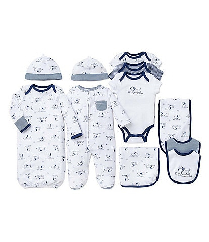 Little Me Baby Boys Preemie-9 Months Puppy Toile Separates Bundle