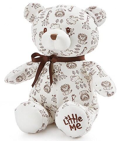 Little Me Baby Boys Safari 10#double; Plush Teddy Bear