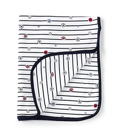 Little Me Baby Boys Striped/Sports Print Blanket