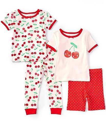Little Me Baby Girls 12-24 Months Cherry Four-Piece Pajama Set