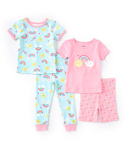 Little Me Baby Girls 12-24 Rainbow Sky Four-Piece Pajama Set