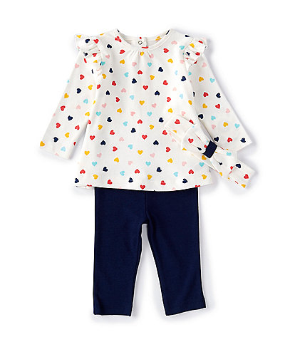 Little Me Baby Girls 3-18 Months Long-Sleeve Heart Tunic Top & Leggings Set