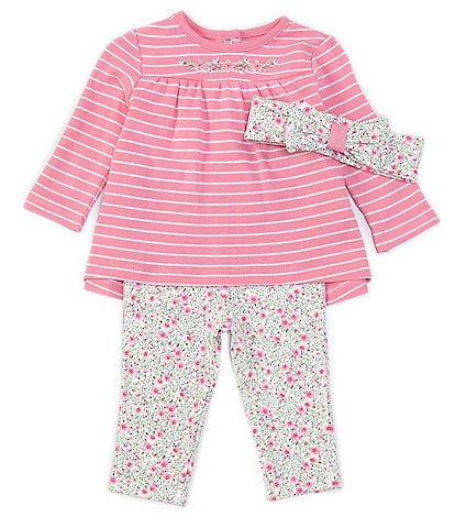 Little Me Baby Girls Holiday Stripe Dress and Panty