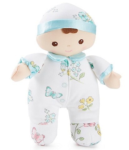 Little Me Baby Girls Meadow Floral 7#double; Plush Doll Rattle