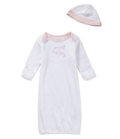 81d76a392c Little Me Baby Girls Newborn-3 Months Thank Heaven for Little Girls Gown    Hat