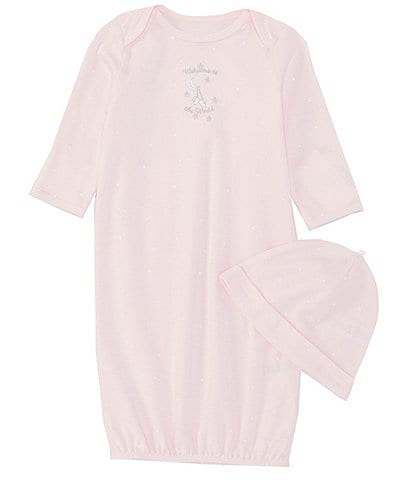 49cd6823c3ac Little Me Baby Girls Newborn-3 Months Welcome Gown