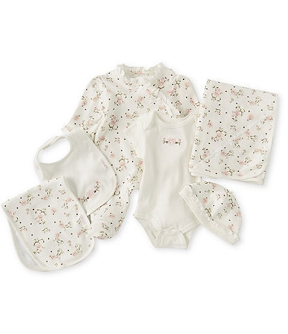 Little Me Baby Girls Newborn-6 Months Vintage Rose Gift Box Layette Set