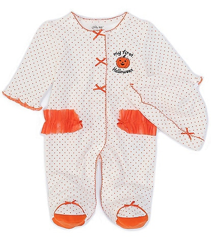 Little Me Baby Girls Newborn-9 Months Long-Sleeve 1st Halloween Footed Coverall