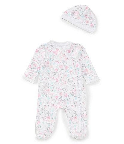 Little Me Baby Girls Preemie-6 Months Long-Sleeves Watercolor Floral Footie