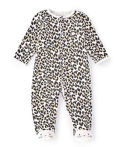 Little Me Baby Girls Preemie-9 Months Leopard Print Footie