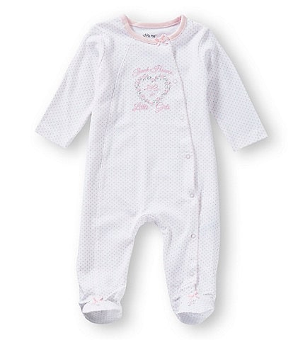 Little Me Baby Girls Preemie-9 Months Thank Heaven for Girls Footed Coverall