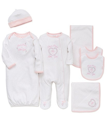 Little Me Baby Girls Preemie-9 Months Thank Heaven for Little Girls 7-Piece Layette Collection