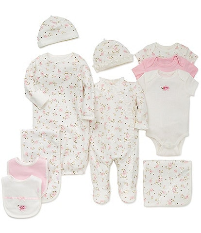 Little Me Baby Girls Preemie-9 Months Vintage Rose 7-Piece Layette Separates Bundle
