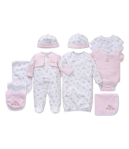 Little Me Baby Girls Preemies-9 Months Baby Bunnies Separates Bundle