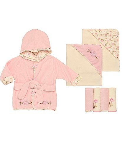 Little Me Baby Girls Vintage Rose Bath Separates Bundle