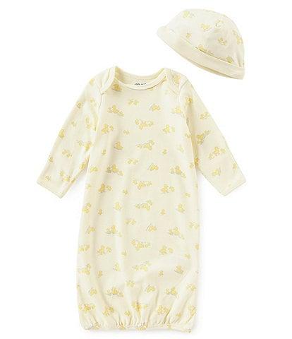 Little Me Baby Newborn-3 Months Little Ducks Long-Sleeve Gown & Hat Set