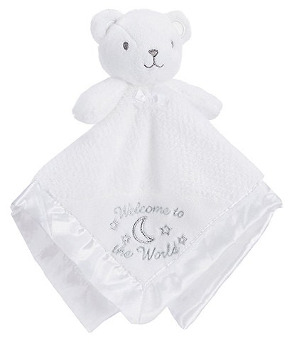 Little Me Baby Welcome To The World Bear Snuggle Buddy Blanket