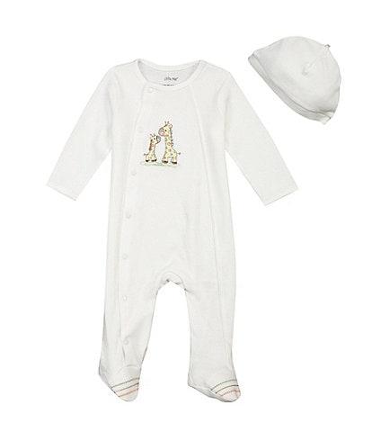 Little Me Baby Girls/Boys Preemie-9 Months Giraffe Footie Set