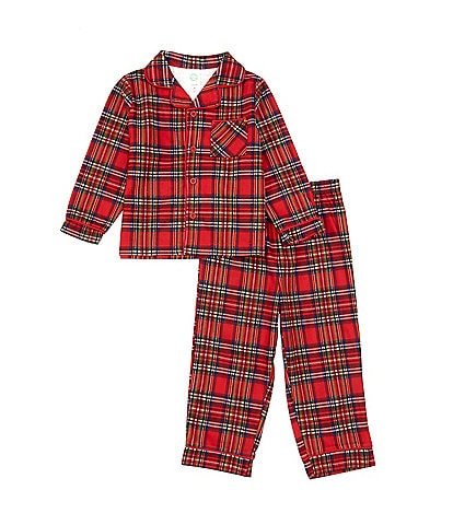 Little Me Toddler Kids 2T-4T Matching Holiday Plaid Two-Piece Pajamas Set