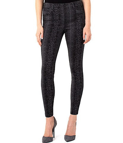 Liverpool Jeans Company Snake Print Gia Glider Pull-On Skinny Pants