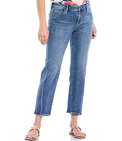 Liverpool Jeans Company Twisted Front Side Seam Straight Crop Jeans