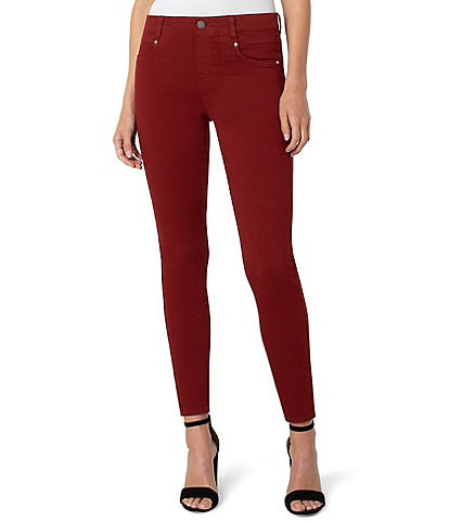 Liverpool Los Angeles Gia Glider Faux Button Pull-On Skinny Jean
