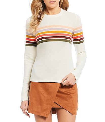 Living Doll Long Sleeve Striped Knit Top