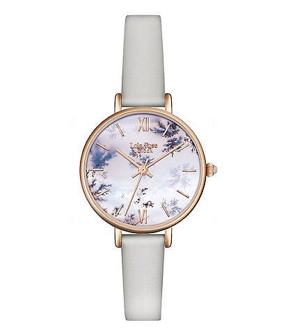 Lola Rose Harmony Snowflake Agate Printed Stone Dial Watch