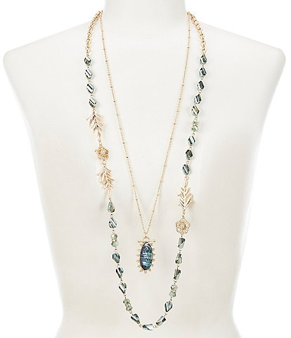 Lonna & Lilly Abalone Adjustable Necklace