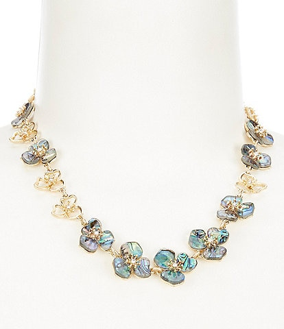 Lonna & Lilly Abalone Flower Collar Necklace