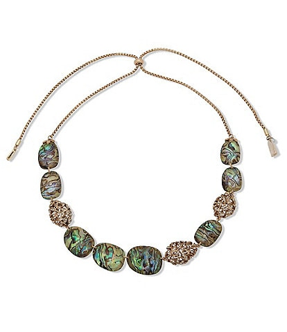 Lonna & Lilly Adjustable Stone Frontal Abalone Necklace