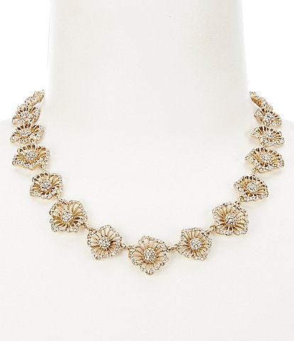 Lonna & Lilly Crystal Flower Collar Necklace