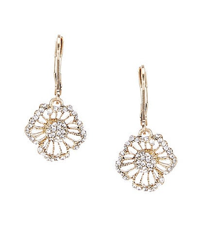 Lonna & Lilly Crystal Flower Drop Earrings