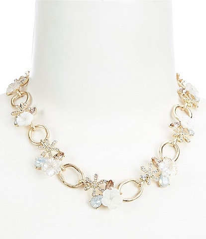 Lonna & Lilly Flower Link Collar Necklace