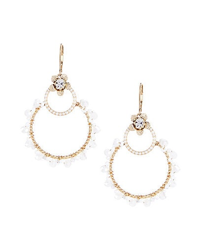 Lonna & Lilly Flower Open Drop Earrings