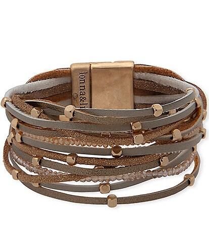 Lonna & Lilly Multi Row Magnetic Wrap Bracelet