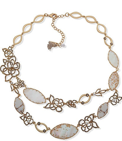Lonna & Lilly Open Flower Collar Necklace
