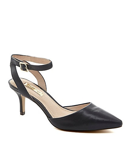 Louise et Cie Esperance Ankle-Strap Pointed-Toe Pumps