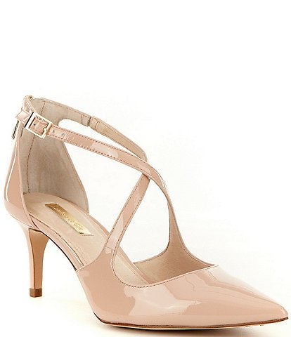 f865bfcdac1 Louise Et Cie Jena Patent Leather Strappy Pointed-Toe Pumps