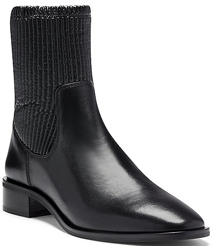Louise et Cie Silko Leather Block Heel Booties