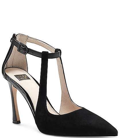 Louise et Cie Taniel Suede and Patent Leather Pumps