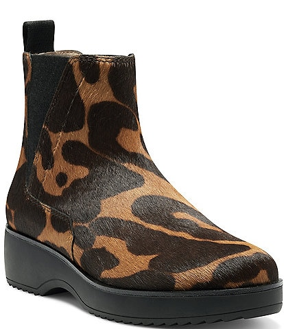 Louise et Cie Zareb3 Leopard Print Haircalf Chelsea Ankle Booties