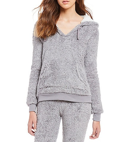 Lounge Affair Cozy Heather Zip-Front Hoodie Lounge Jacket