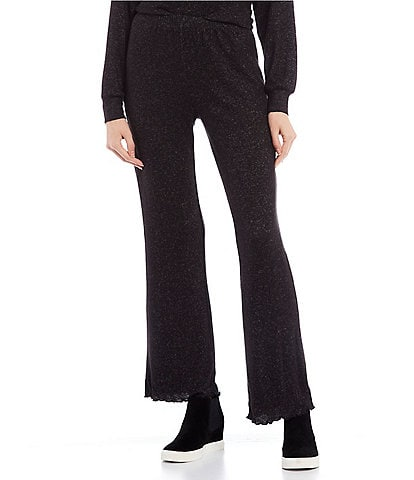 Love & Piece Coordinating Mid-Rise Fuzz Knit Wide Leg Pants