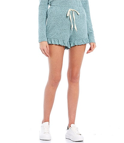 Love & Piece Coordinating Terry Drawstring Shorts