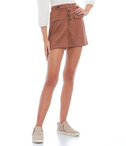 Love & Piece Flap-Pocket Skirt