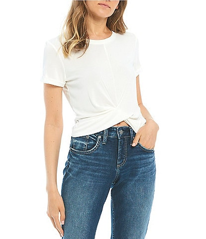 Love & Piece Twist-Front Tie Back Tee